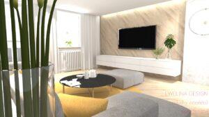 Návrh obývacího pokoje, on-line zadání , foto stávající stav a 3D návrh daného prostoru