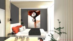 Návrh malé ložnice bytového domu