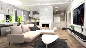 3D vizualizace - pro realitní kancelář - proměna bytu